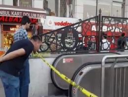 Taksim Tünel'de  bombalı paket alarmı