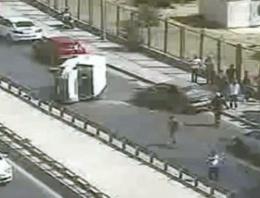 İstanbul sahil yolunda zincirleme kaza