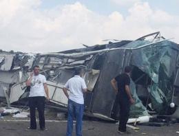 Başbakanlık makam otobüsü kaza yaptı!