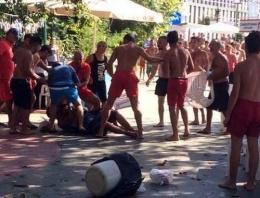 Plajda don kavgası! 1 kişi ağır yaralı!