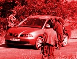 Tunceli'de PKK yol kesti kimlik sordu!