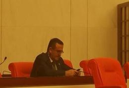 İhsan Özkes Meclis'te böyle görüntülendi