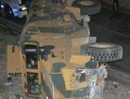 Zırhlı araç devrildi: 13 asker yaralı