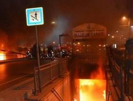 Topkapı yeraltı geçidi çarşısında yangın