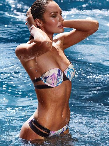 Candice Swanapoel Victoria's Secret için pozlar verdi!