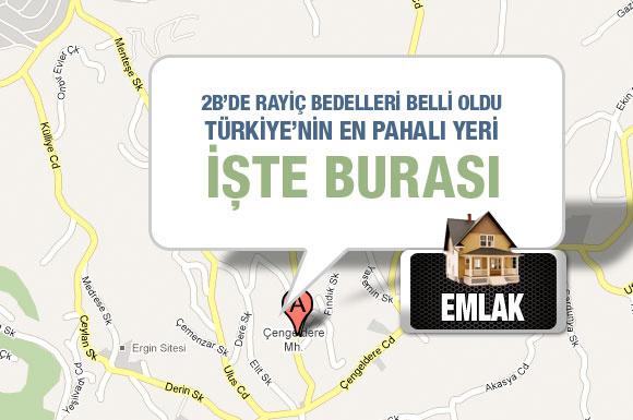 2B'de Türkiye'nin en pahalı yeri