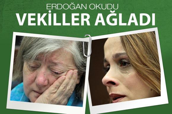 Erdoğan okuduğu mektup vekilleri ağlattı