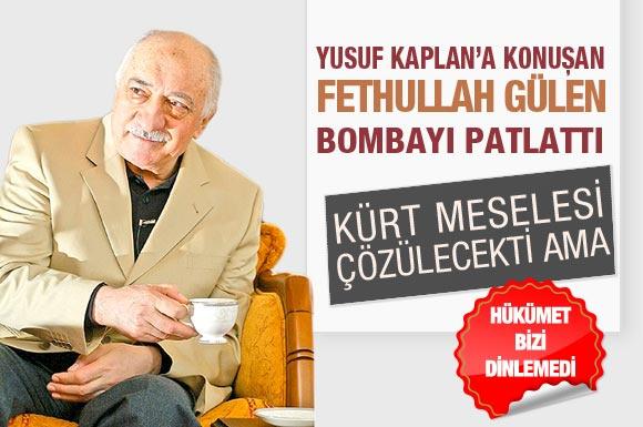 Fethullah Gülen'den bomba açıklama!..