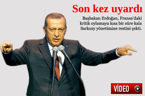 Başbakan Recep Tayyip Erdoğan, Fransa Senatosu'nda görüşülecek Soykırımı İnkar Yasası'nı eleştirdi