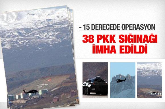 38 PKK sığınağı daha yok edildi