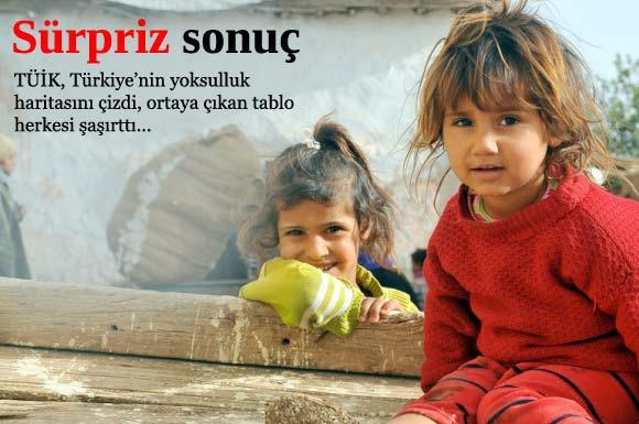 Türkiye İstatistik Kurumu'nun araştırmasına göre Türkiye'de yoksulluk oranları giderek yükseliyor.