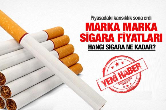Marka marka 2013'ün zamlı sigara fiyatları