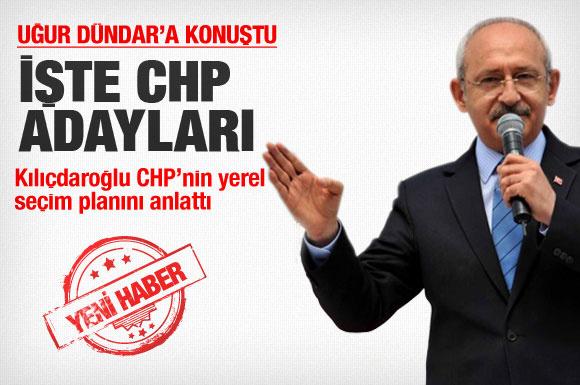 İşte Kılıçdaroğlu'nun büyükşehir adayları