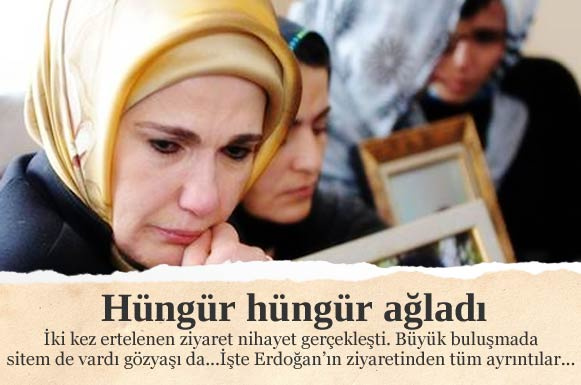 Emine Erdoğan hüngür hüngür ağladı