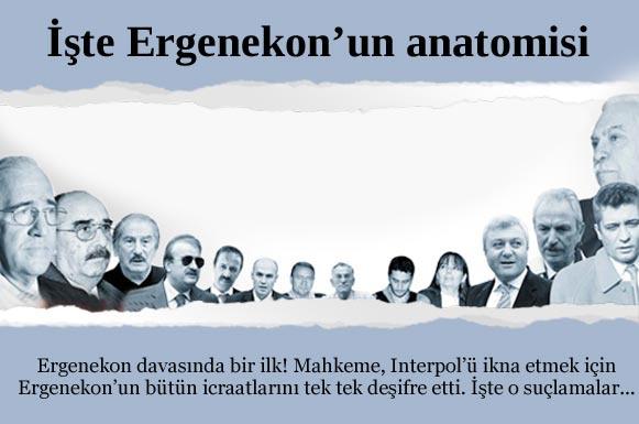 İstanbul 12. Ağır Ceza Mahkemesi, İnterpol için Ergenekon terör örgütünün anatomisini çizdi, eylemlerini tek tek anlattı