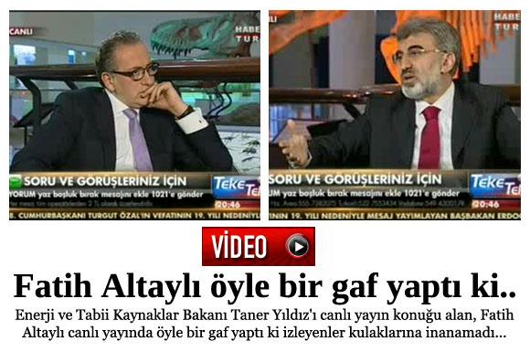 Fatih Altaylı öyle bir gaf yaptı ki..