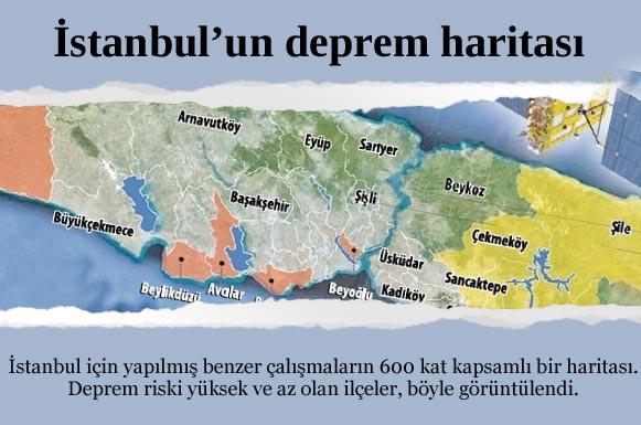 İşte İstanbul'un deprem haritası
