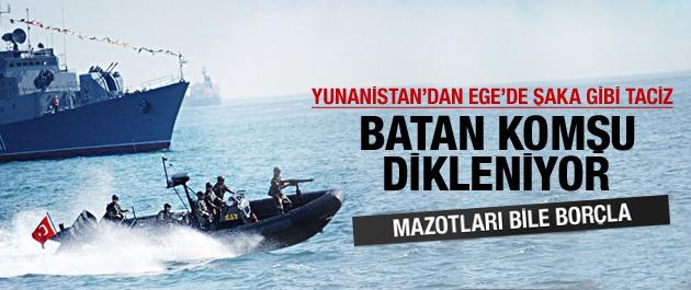 Yunan botlarından Türk teknelere taciz