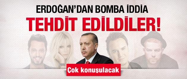 Erdoğan yüzünden tehdit edilen sanatçılar!
