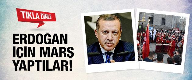 Mehter takımı Erdoğan için marş yaptı!