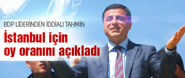 Selahattin Demirtaş BDP'nin İstanbul oyunu açıkladı