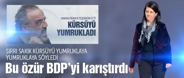 Sakık Fidan'a teşekkür edince BDP karıştı
