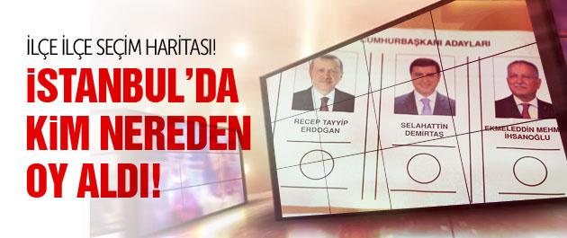 İstanbul'da kim nereden ne kadar oy aldı?