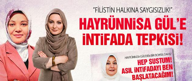 AK Parti'li başörtülü yazarlardan Hayrünnisa Gül'e Filistin ve intifada tepkisi!