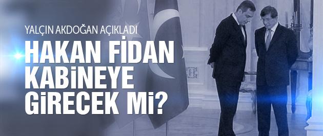 Yalçın Akdoğan'dan yeni kabine açıklaması