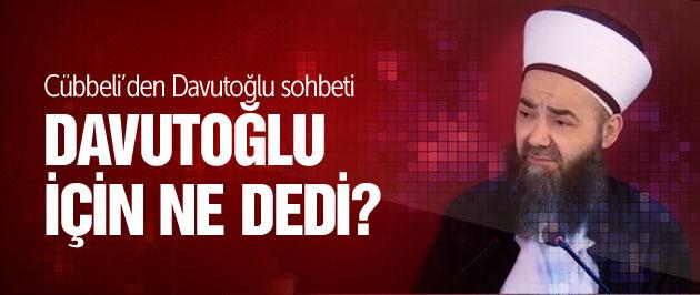 Cübbeli Ahmet'ten Davutoğlu'na dua