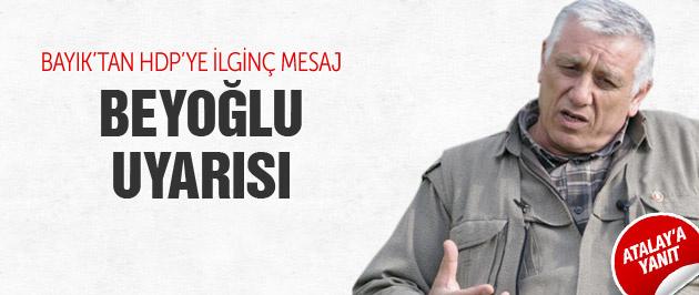 PKK'lı Cemil Bayık'tan Beşir Atalay'a yanıt