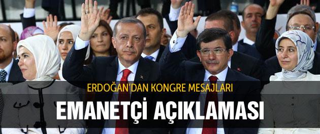 Erdoğan'dan emanetçi açıklaması