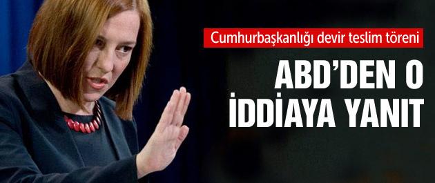 ABD'den Erdoğan iddiasına cevap