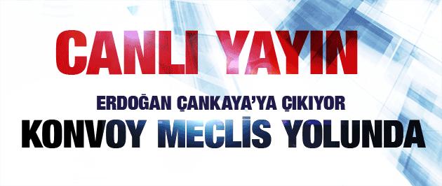 Recep Tayyip Erdoğan yemin ediyor Köşk yolunda