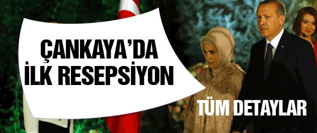 Çankaya'da 30 Ağustos resepsiyon Erdoğan için bir ilk