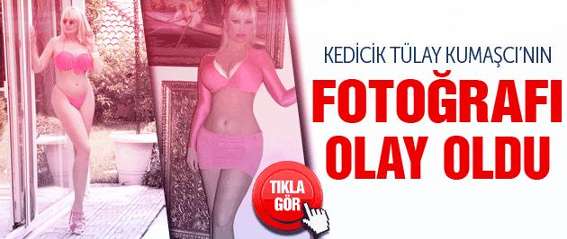 Kedicik Tülay Kumaşcı'dan yeni bikinili fotoğraf