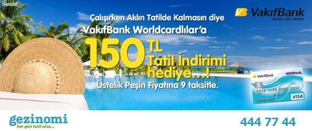 150 TL tatil indirimi