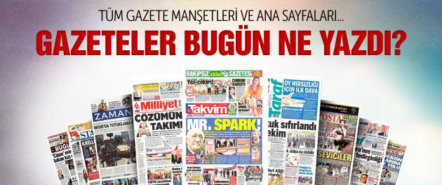 Gazete manşetleri 2 Eylül 2014