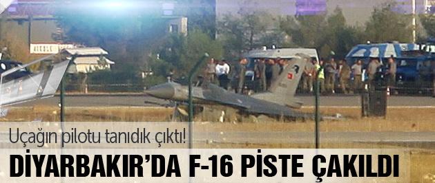 Diyarbakır'da F-16 düştü SON DAKİKA