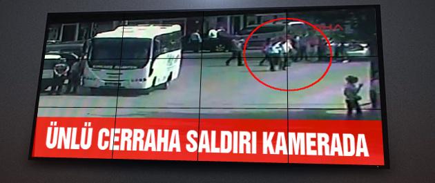 Bingür Sönmez'e saldırı kamerada!