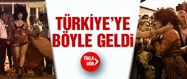 Lady Gaga İstanbul'a böyle geldi