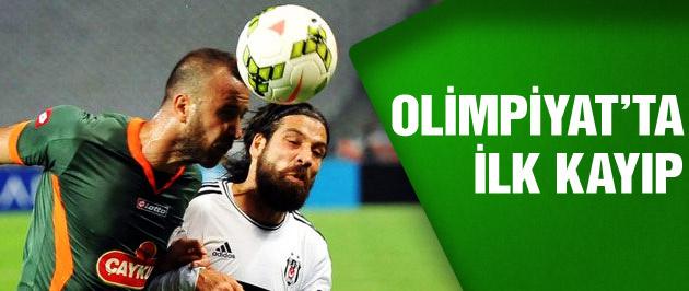 Beşiktaş ilk puan kaybını yaşadı