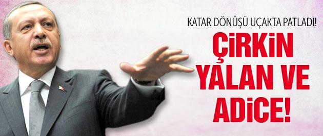 Erdoğan Katar dönüşü uçakta patladı!