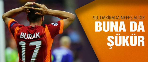 Galatasaray beraberliği zor kurtardı