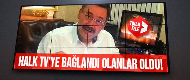 Gökçek canlı yayında Halk TV'ye bağlandı olanlar oldu...