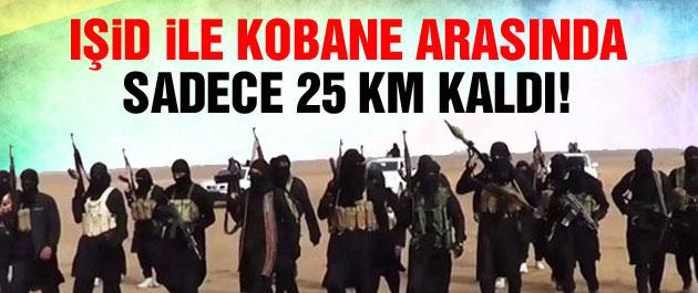 IŞİD ile Kobane arasında 25 km. kaldı!
