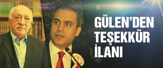 Fethullah Gülen'den ilginç MİT ilanı!