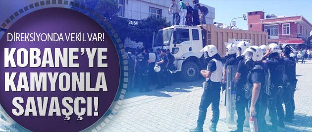 HDP'den Kobane'ye kamyonla savaşçı!