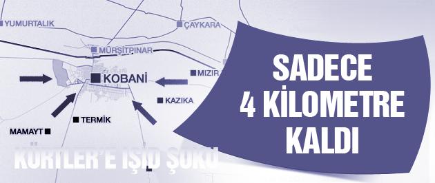 Kürtler'e IŞİD şoku sadece 4 kilometre kaldı