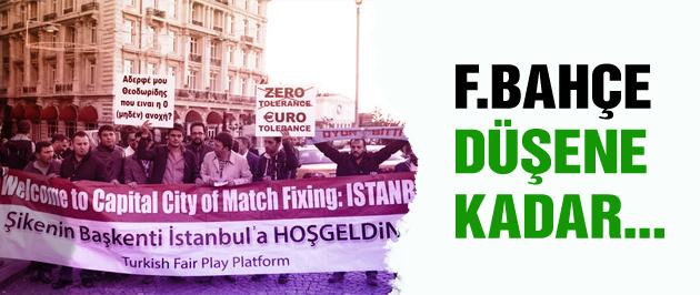 Trabzonlu taraftarlar F.Bahçe'yi protesto etti